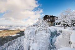 Szczeliniec Mountain, Poland Royalty Free Stock Images