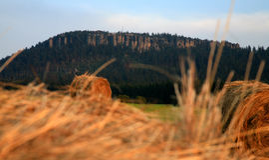 Szczeliniec - Tabellen-Berge Stockbild