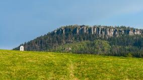 Szczeliniec Wielki Mountain in The Stolowe Mountains. Klodzka Valley, Sudetes, Poland Stock Images