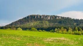 Szczeliniec Wielki Mountain in The Stolowe Mountains. Klodzka Valley, Sudetes, Poland Royalty Free Stock Photography
