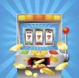Szczeliny owocowej maszyny wygranie Zdjęcie Stock