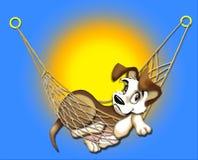 szczeniak hamaka royalty ilustracja