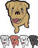 Szczeniak maskotki loga angielszczyzn buldog Obrazy Stock