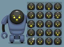 Szczeniak twarzy robota kreskówki emocja stawia czoło Wektorową ilustrację ilustracja wektor