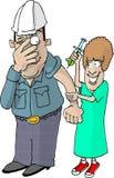 szczepionki przeciwko grypie royalty ilustracja