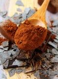 szczerbi się czekoladowego kakaowego życie wciąż Zdjęcie Royalty Free