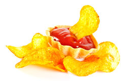 szczerbi się ketchupu czerwieni pomidoru zdjęcie stock