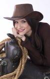 szczery cowgirl Zdjęcie Stock