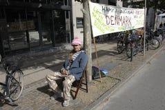 SZCZERY MORTENSEN_ON głodu strajk Zdjęcia Royalty Free