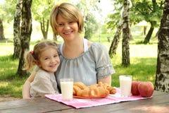 szczęśliwa córki matka Zdjęcia Stock