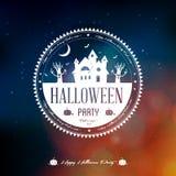 Szczęśliwa Halloweenowa etykietka Zdjęcia Royalty Free