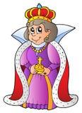 szczęśliwa królowa Obrazy Royalty Free