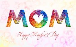 Szczęśliwa matka dnia karta Zdjęcie Royalty Free