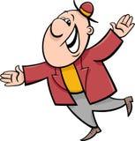 Szczęśliwa mężczyzna kreskówki ilustracja Zdjęcia Stock