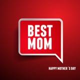 Szczęśliwa Mothers dnia etykietka Fotografia Royalty Free