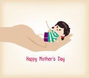 Szczęśliwa Mothers dnia ręka trzyma dziecka Fotografia Stock