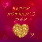Szczęśliwa Mothers dnia typografia Różowy tło Zdjęcia Stock
