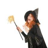 Szczęśliwa zła czarownica Obraz Royalty Free