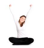 szczęśliwa zdrowa kobieta Zdjęcie Royalty Free