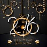 2016 Szczęśliwego nowego roku i Wesoło bożych narodzeń tło Zdjęcia Royalty Free