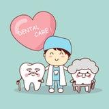 Szczęśliwej kreskówki stary ząb Fotografia Stock