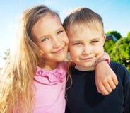 Szczęśliwi dzieci Zdjęcia Stock