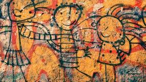 Szczęśliwi graffiti Zdjęcia Royalty Free