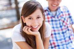 Szczęśliwi nastolatkowie Zdjęcia Royalty Free