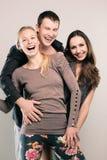 Szczęśliwi przyjaciele Fotografia Royalty Free