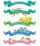 Szczęśliwi Wielkanocni sztandary Fotografia Royalty Free