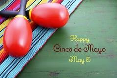 Szczęśliwy Cinco de Mayo tło Obrazy Royalty Free