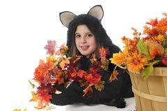 Szczęśliwy Czarny kot Nastoletni Fotografia Stock