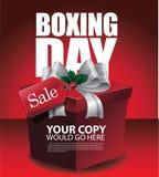 Szczęśliwy drugi dzień świąt bożego narodzenia sprzedaży tło Zdjęcie Royalty Free