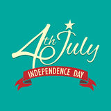 Szczęśliwy dzień niepodległości Stany Zjednoczone Ameryka, 4th Lipiec Obrazy Royalty Free