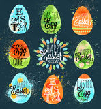 Szczęśliwy Easter jajka błękit Fotografia Royalty Free