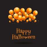 Szczęśliwy Halloween balonu tło Obrazy Royalty Free