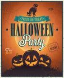 Szczęśliwy Halloweenowy plakat. Zdjęcia Royalty Free