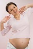 Szczęśliwy kobieta w ciąży Obrazy Royalty Free