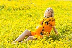 Szczęśliwy kobieta w ciąży Fotografia Stock