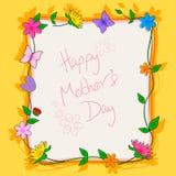 Szczęśliwy matka dnia świętowania tło Obraz Royalty Free