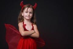 szczęśliwy mały diabeł. Obrazy Royalty Free