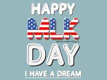 Szczęśliwy MLK dzień Zdjęcia Stock