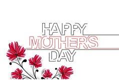 Szczęśliwy Mothers dnia Typographical tło Obrazy Stock