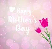 Szczęśliwy Mothers dzień typographical Fotografia Stock