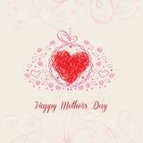 Szczęśliwy Mothers dzień z kierowym kartka z pozdrowieniami Obraz Royalty Free
