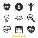 Szczęśliwy Mothers& x27; s dnia ikony Mamy miłości symbole Fotografia Stock