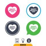 Szczęśliwy Mothers& x27; s dnia znaka ikona Mama symbol Obrazy Stock
