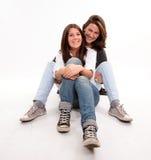 Szczęśliwy nastolatek i jej mama Zdjęcie Royalty Free