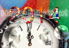 Szczęśliwy nowy rok 2014 Fotografia Royalty Free
