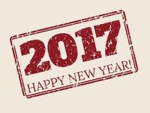 Szczęśliwy nowy rok stemplówki 2017 projekt Obrazy Stock